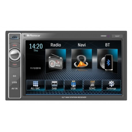 AUTORADIO NAVIGATORE MECHALESS PHONOCAR VM069